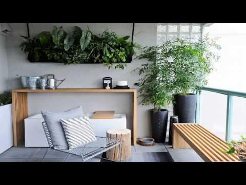 49+ Small Balcony Makeover Design Garden Ideas | Apartment Furniture Decorating Bench DIY Tour 2018