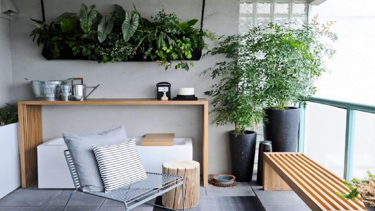 49 Small Balcony Makeover Design Garden Ideas Apartment Furniture Decorating Bench Diy Tour 2018 Youtube