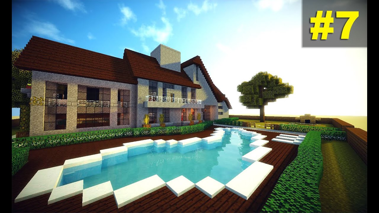 Minecraft tutorial pequena casa moderna simples 7 youtube for Casa moderna facil minecraft tutorial