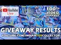 Hot Wheels 100th Video Giveaway Results - YouTube Live
