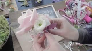 Ladies Wrist Corsage using Rose, Anemone and Ranunculus