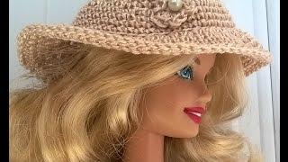 Passo a passo chapéu de crochê para barbie por Andreia Nascimento