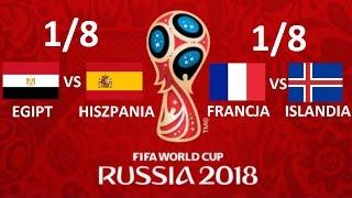 TURNIEJ PANINI WORLD CUP RUSSIA 2018 #13 1/8 - EGIPT VS HISZPANIA, FRANCJA VS ISLANDIA