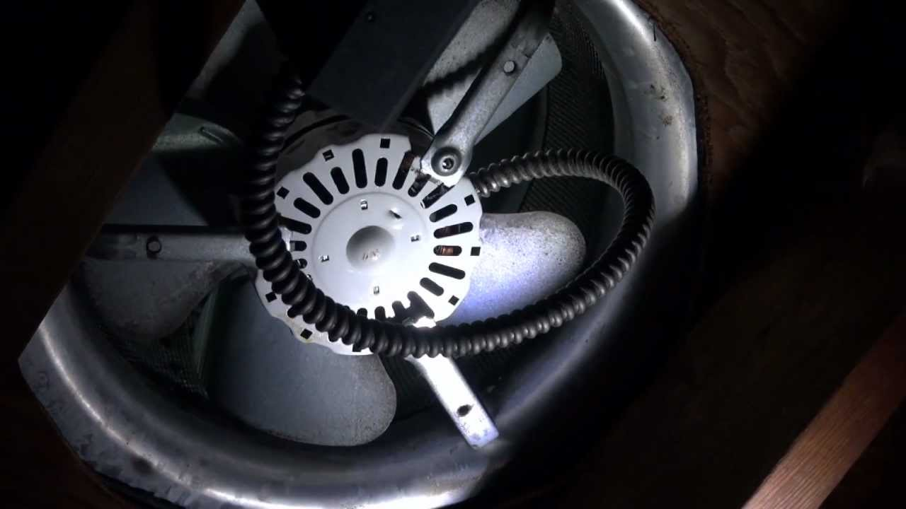 lomanco attic power vent fan motor replacement youtube