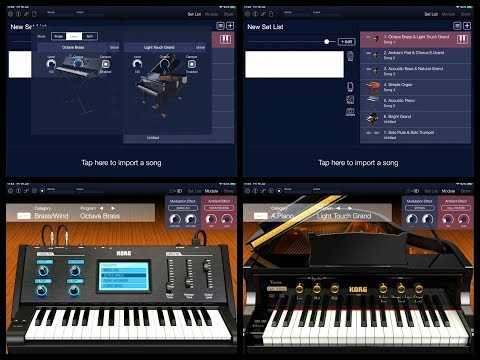 KORG Module Pro Update - How To Set Layers and Splits - Tutorial for the iPad