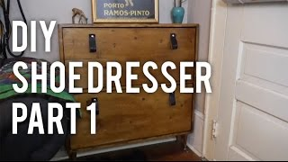 How To Make A Shoe Dresser : Diy