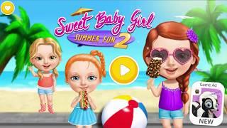 Fun Baby Care - Sweet Baby Girl Summer Fun 2 Kids Games, Makover & Hair Salon screenshot 2