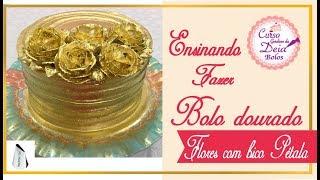 Como deixar seu bolo dourado (como fazer chantilly dourado de forma simples)