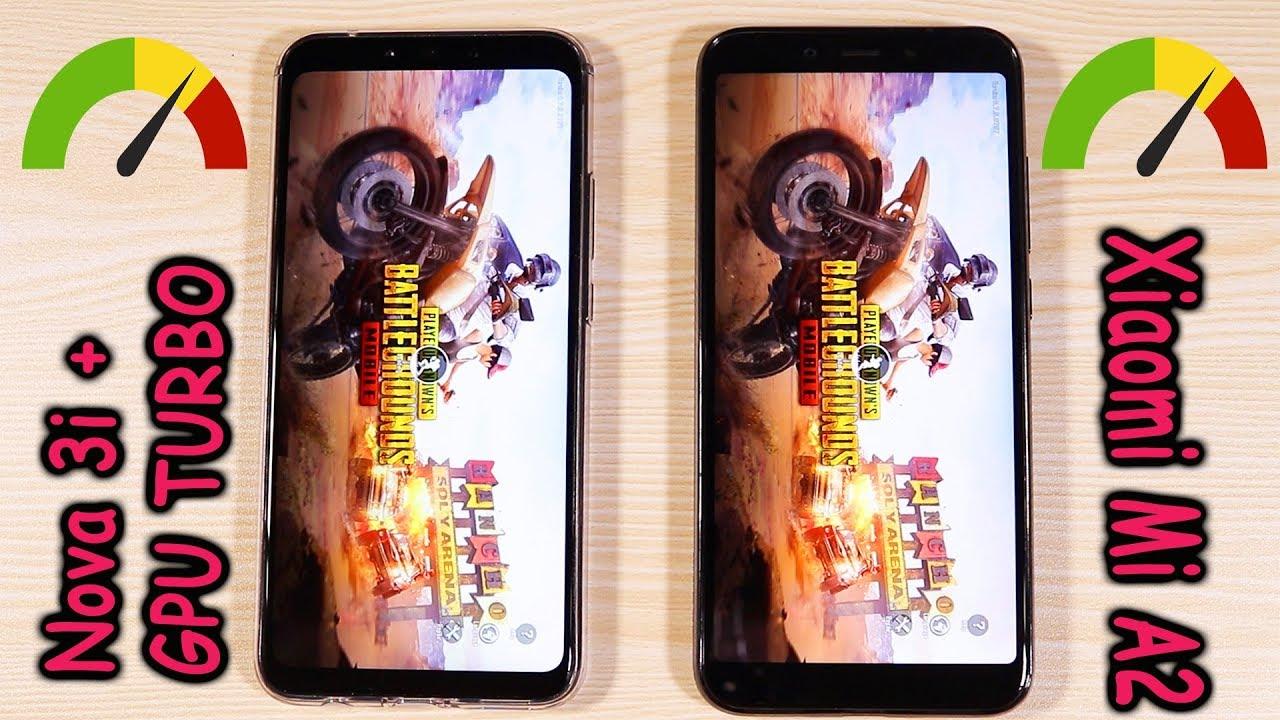 Huawei Nova 3i(GPU Turbo Update) Vs Mi A2 Speed Test, Pubg, Mobile Legends