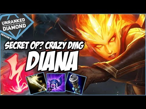 SECRET OVERPOWERED? CRAZY DAMAGE DIANA - Unranked to Diamond - Ep. 16 | League of Legends