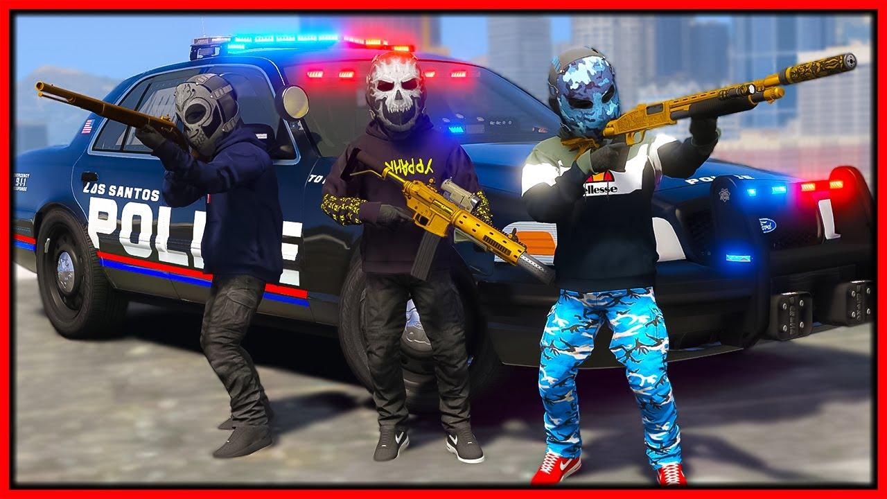GTA 5 Roleplay - SMALL HITMEN ANNOYING COPS   RedlineRP