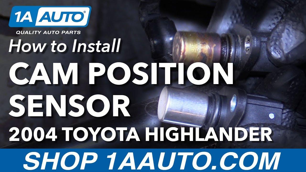 how to install replace camshaft position sensor 2001 07 toyota highlander l4 2 4l [ 1280 x 720 Pixel ]