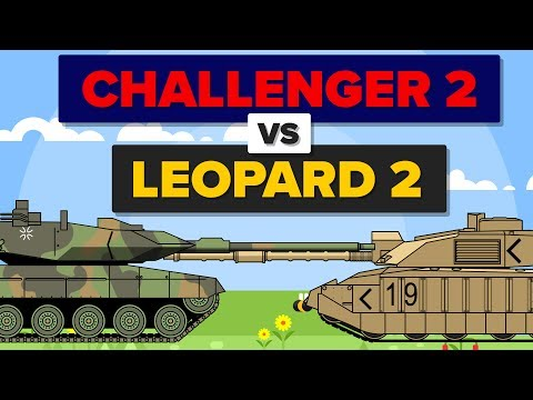 British Challenger 2 vs German Leopard 2 - Which Is Better? - Main Battle Tank / Military Comparison