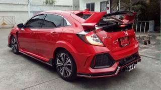 TEST DRIVE HONDA CIVIC FK สีแดง ชุดแต่ง TYPE R โดย OPTIONGT