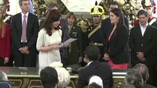 CFK tomó juramento a María Cecilia Rodríguez como ministra de Seguridad