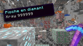 J'ai la PIOCHE X-RAY 😂 (Le meilleur enchantement Minecraft)