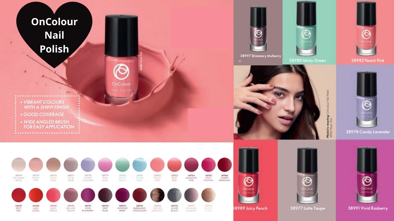 Oriflame Oncolour Nail Polish Review Demo Product Knowledge Look Great Beauty Products Urdu Hindi Youtube