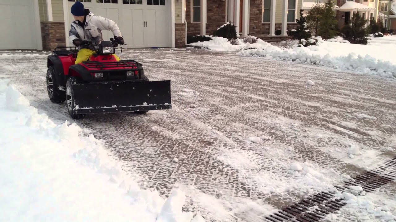 Wayne Snow Removal Atv Plowing Youtube