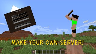 HOW TO MAKE A MINECRAFT PC SERVER(Fast and Easy and Free)(In this video I show you how to make your own Minecraft PC server that you and your friends can play on but unlike Realms, this is free! .jar file and command: ..., 2016-09-27T23:01:07.000Z)