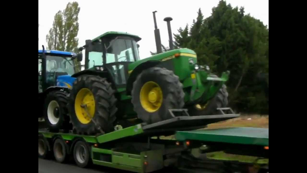 transport tracteur agricole john deere youtube. Black Bedroom Furniture Sets. Home Design Ideas