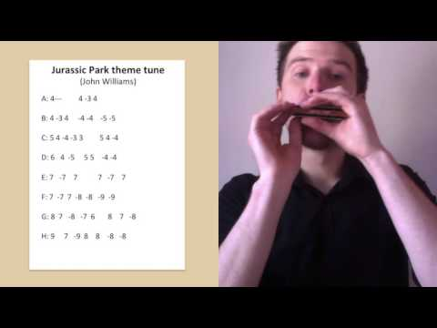 Jurassic Park harmonica lesson: How to play the Jurassic Park theme on C diatonic harmonica