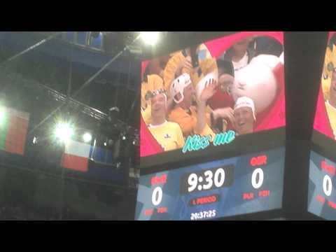 IIHF 2015 - Kiss Cam - BOB kissing Sweden fan!!! FUNNY VIDEO