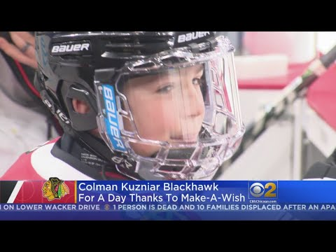 Mick Lee - Chicago Blackhawks Make 8-Year-Old's Wish Come True