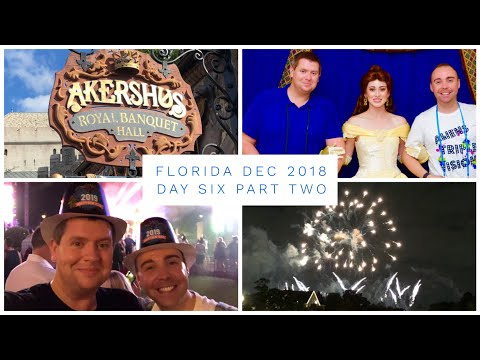 Walt Disney World & Florida Vlog - Dec 2018 - Day 6 - Pt 2 - Akershus Lunch & New Years in Epcot