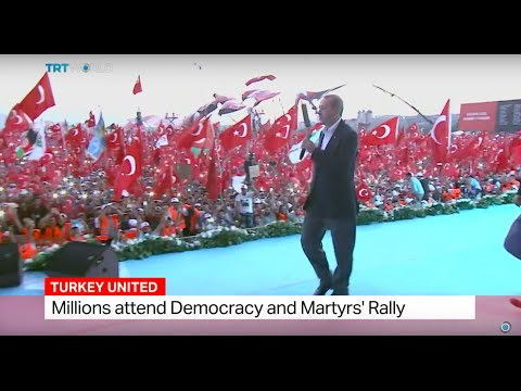 Turkish President Erdogan's speech at Democracy and Martyrs' Rally in Istanbul