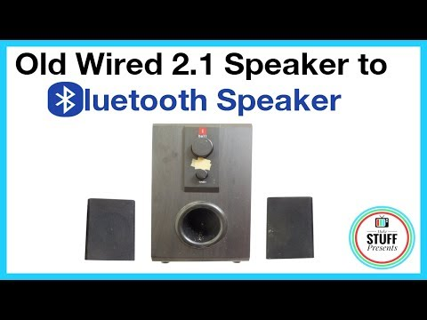 How to make an OLD WIRED 2.1 Channel SPEAKER into BLUETOOTH SPEAKER