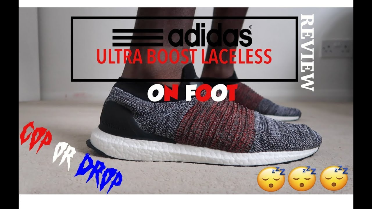 Adidas Ultra Boost Laceless Review On Foot Cop Or Drop Youtube