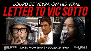 LOURD DE VEYRA Recounts His VIRAL Letter to VIC SOTTO