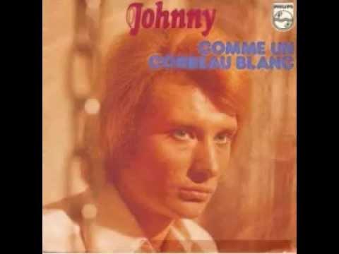 JOHNNY HALLYDAY....  comme un corbeau blanc ( 1973 )