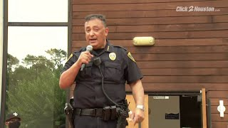 HPD Chief Art Acevedo shares an emotional speech amid protests