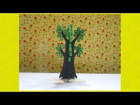 DIY Kokoru Paper TREE // POHON dari Kertas Kokoru