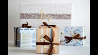Tutorial Caja Regalo para Bebé - Baby Gift Box Tutorial