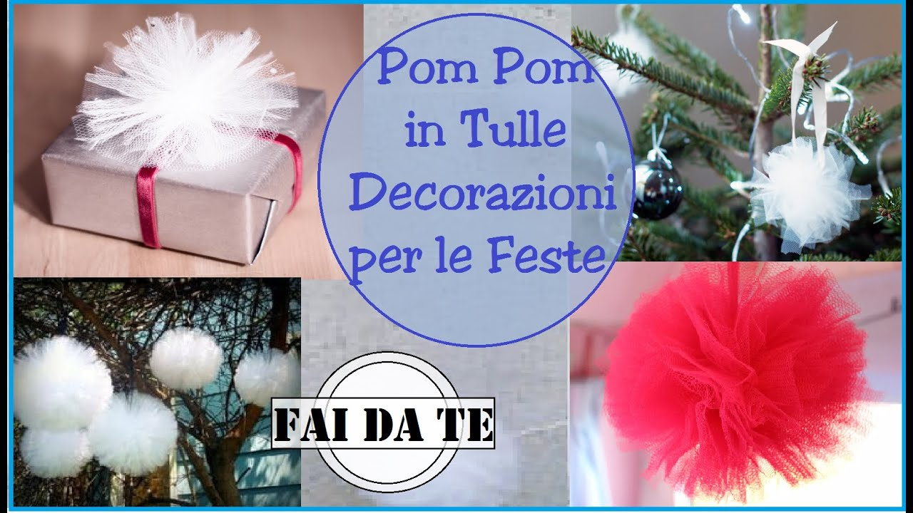 Come realizzare dei pom pom in tulle decorazioni per le for Panchine fai da te