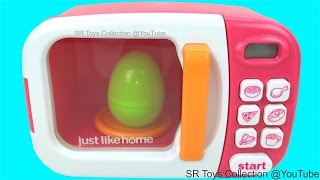 pretend play magic microwave just like home toy appliance monster princess tmnt kinder surprise eggs