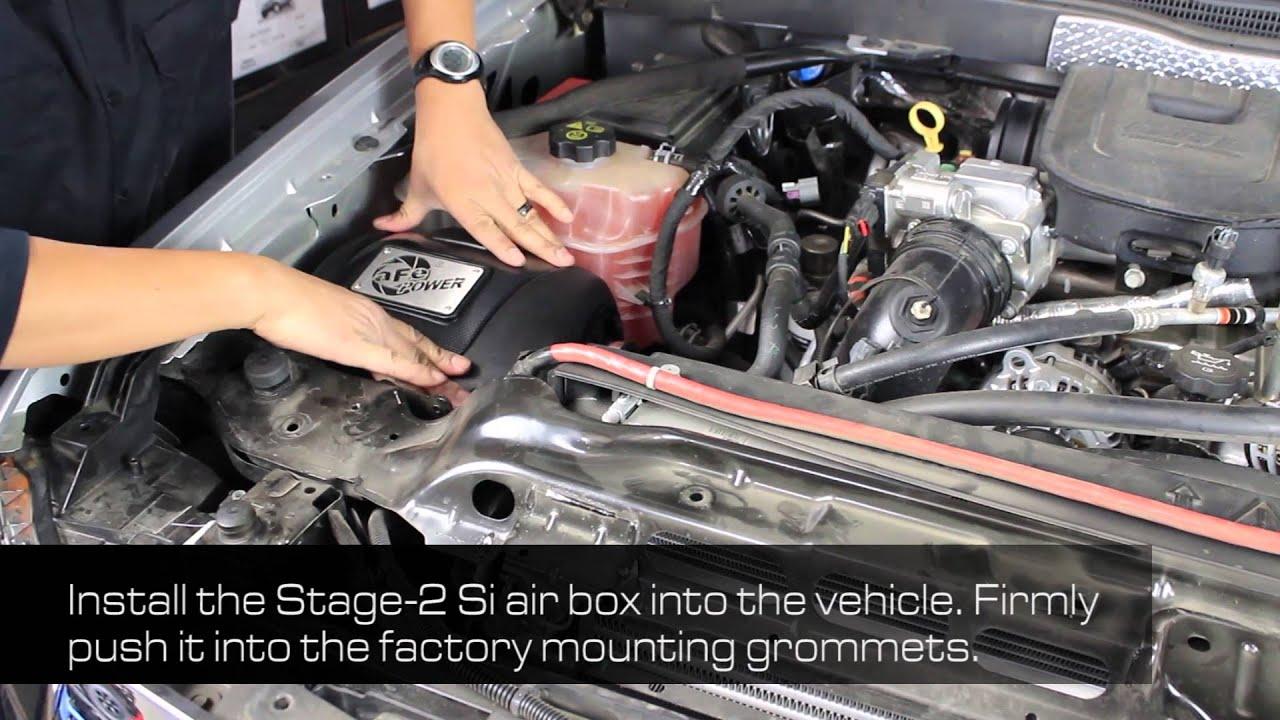 how to install afe power 11 16 gm diesel trucks v8 6 6l td lml intake system 51 82322 e  [ 1280 x 720 Pixel ]