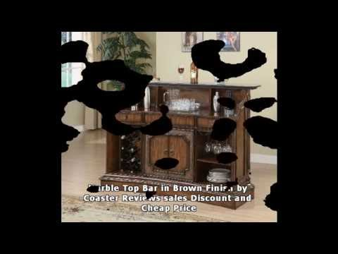 Marble Top Bar in Brown Finish by Coaster Reviews sales Discount and Cheap Price