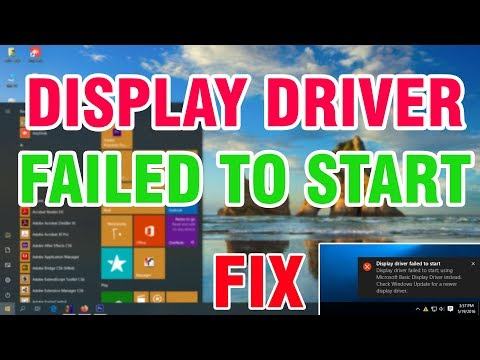 How To Fix Display Driver Failed To Start Error On Windows 10