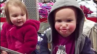 TOP 10 Funny Baby Go Shopping First Time - Lovely Baby Video