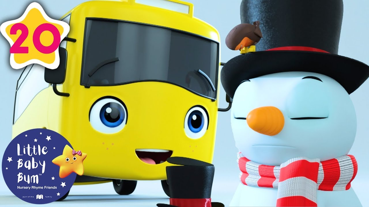 Buster Builds a Snowman   Go Buster   Kids Cartoon   Baby Songs   Little Baby Bum