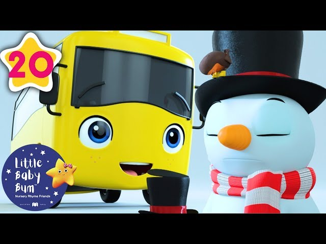Buster Builds a Snowman | Go Buster | Kids Cartoon | Baby Songs | Little Baby Bum