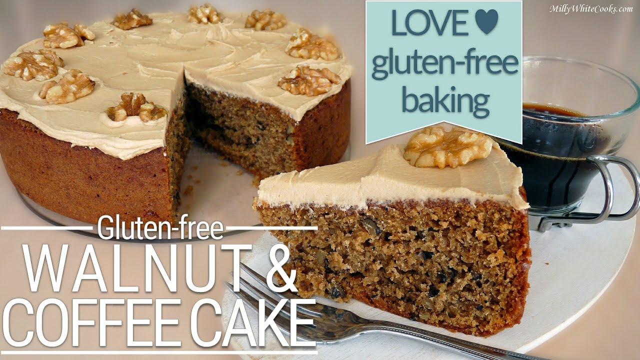 Moist Coffee Walnut Cake Gluten Free Baking Easy Step By Step How To Make Recipe