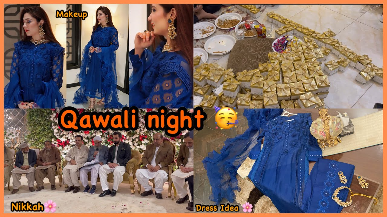 Qawali Night / Nikkah Ceremony - Makeover- Dress Idea Jewellery - Vlog !!