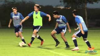 Mix Diskerud trains with Grande Sports Academy players