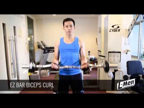 Gerakan Latihan Otot Lengan - EZ Bar Biceps Curl