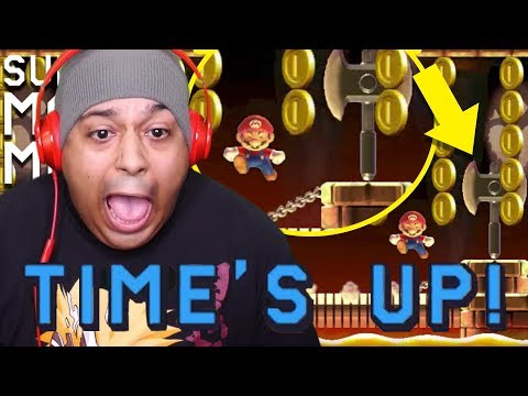 MY BLOOD PRESSURE AND PATIENCE RUNNING OUT OF TIME!! [SUPER MARIO MAKER] [#183]