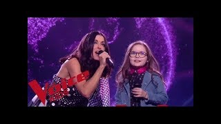 Slimane - Viens on s'aime | Jenifer et Emma  | The Voice Kids France 2018 | Finale
